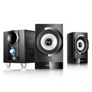 恩科 E700 多媒体电脑音箱木质2.1音响低音炮 个性大眼低音喇叭