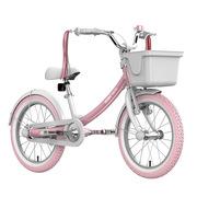 九号 女宝宝儿童自行车小孩脚踏山地车女童单车16寸粉色