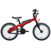 九号 男宝宝儿童自行车小孩脚踏山地车男童单车16寸红色