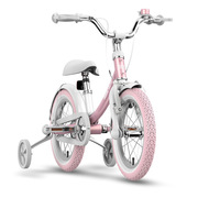 九号 女宝宝儿童自行车小孩脚踏山地车女童单车14寸粉色