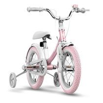 九号 女宝宝儿童自行车小孩脚踏山地车女童单车14寸粉色产品图片主图