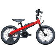 九号 男宝宝儿童自行车小孩脚踏山地车男童单车14寸红色