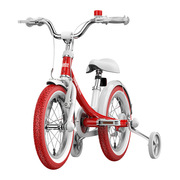 九号 女宝宝儿童自行车小孩脚踏山地车女童单车14寸红色