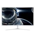 TCL T32M7QFC 31.5英寸 量子点曲面显示器32电竞游戏液晶电脑屏幕非2K 白色