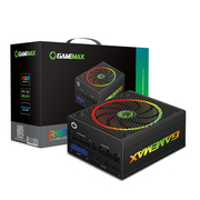 GAMEMAX  额定450W RGB智能电源(温控节能/14CM静音风扇/RGB呼吸灯控制)