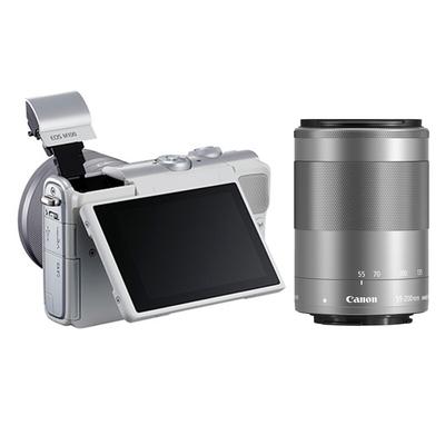 佳能 EOS M100 微型单电双头套机 白色 (EF-M 15-45mm )&(EF-M 55-200mm)产品图片4