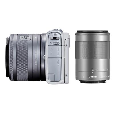 佳能 EOS M100 微型单电双头套机 白色 (EF-M 15-45mm )&(EF-M 55-200mm)产品图片5