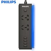飞利浦  口琴插座 2+4USB 3.2A智能声控插排/插线板/接线板/排插1.6米LED音乐夜灯