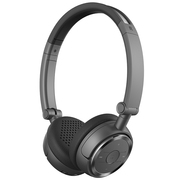 漫步者 W675BT 无线蓝牙立体声耳机 头戴式耳机 手机音乐耳机 铁灰黑
