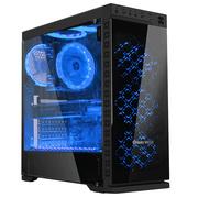 长城 本色M-62电竞游戏机箱黑色(水冷/全侧透/钢化玻璃面板/磁吸防尘/长显卡)