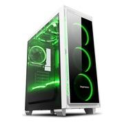 鑫谷 光韵halo6 plus全侧透中塔机箱 白色(透明侧板+深透面板/120水冷位/支持ATX大板/支持SSD)