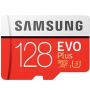 三星 存储卡128GB 读速100MB/s 写速90MB/s UHS-3 Class10 高速TF卡(Micro SD卡)红色plus升级版+