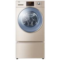 海尔 XQGH100-HB12858GU1  10公斤复式变频洗烘一体滚筒洗衣机  蒸汽防皱烘干 复式结构 洗衣不弯腰产品图片主图