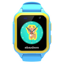 阿巴町 V118儿童智能手表 4G视频通话拍照定位防水电话手表小胖 电信版蓝色产品图片主图
