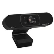 奥速(ASHU) H800 1080P高清网络电脑电视直播视频会议内置麦克风免驱动摄像头 橡胶黑