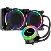 乔思伯 TW2-240(601版) 一体式CPU水冷散热器 (RGB七彩流光冷头/12CM温控风扇/多平台/附带硅脂)