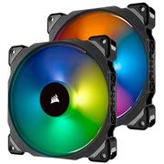 海盗船  ML140 PRO RGB 14cm 磁悬浮 PWM 炫彩灯光 电脑风扇 两颗装/五年质保