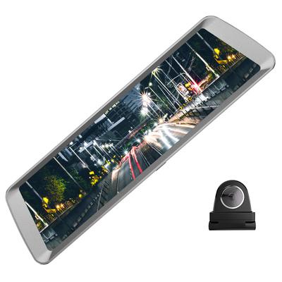 捷渡 D820全面屏行车记录仪 高清大广角流媒体后视镜 F1.8大光圈加强夜视 金属机身产品图片1