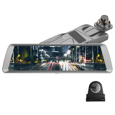 捷渡 D820全面屏行车记录仪 高清大广角流媒体后视镜 F1.8大光圈加强夜视 金属机身产品图片2