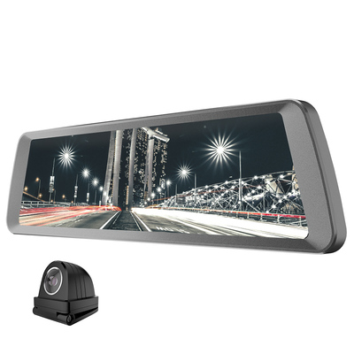 捷渡 D820全面屏行车记录仪 高清大广角流媒体后视镜 F1.8大光圈加强夜视 金属机身产品图片3