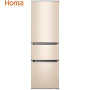 奥马  BCD-196DK  196升 三门三温电冰箱 中门软冷冻 大抽屉设计 PS6环保内胆 金色