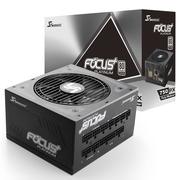 海韵 额定750W FOCUS+750PX 电源(80PLUS白金牌 转换93.8%/全模组/静音低载风扇转停/十年质保)