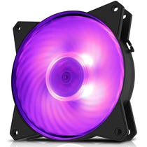 酷冷 MasterFan MF120R RGB机箱风扇(均衡型风扇/旋翼扇叶/12cm/同步4大板商RGB灯效)产品图片主图