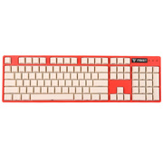 iNSIST Designer 104侧刻 机械游戏键盘 Cherry樱桃 青轴 西瓜红 绝地求生吃鸡键盘