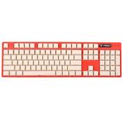 iNSIST Designer 104侧刻 机械游戏键盘 Cherry樱桃 红轴 西瓜红 绝地求生吃鸡键盘