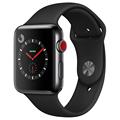 苹果 Watch Series 3智能手表(GPS+蜂窝网络款 42毫米 深空黑色不锈钢表壳 黑色运动型表带 MQR02CH/A)