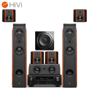 惠威 D3.2HT+天龙(DENON)AVR-X1400H 音响 7.1声道家庭影院 客厅音箱功放低音炮套装 木质 全景声