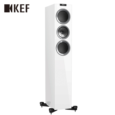 KEF R700 白色 高保真音响 Hi-Fi扬声器 高配家庭影院扬声器 发烧同轴音箱 落地主箱 一对产品图片1