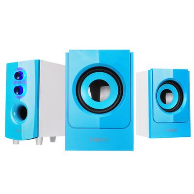 恩科 恩科  E60B 电脑多媒体笔记本木质蓝牙音箱 2.1组合台式音响低音炮支持U盘 蓝色产品图片3
