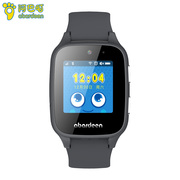 阿巴町 儿童电话手表 B108智能手表 防水拍照360度安全防护定位儿童手表男孩黑色