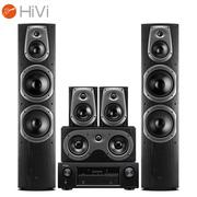 惠威 D60HT+天龙 DENON X518 AV功放 5.0声道家庭影院组合音响套装 家用KTV音箱音响