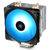 九州风神 玄冰400幻彩版CPU风冷散热器(多平台/支持AM4/4热管/智能温控/幻彩/12CM风扇/附带硅脂)产品图片主图