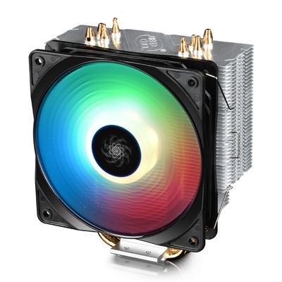九州风神 玄冰400幻彩版CPU风冷散热器(多平台/支持AM4/4热管/智能温控/幻彩/12CM风扇/附带硅脂)产品图片2