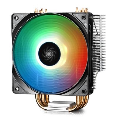 九州风神 玄冰400幻彩版CPU风冷散热器(多平台/支持AM4/4热管/智能温控/幻彩/12CM风扇/附带硅脂)产品图片4