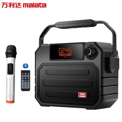 万利达 音响蓝牙音箱户外手提便携式广场舞音响可插卡U盘带话筒 X06黑色产品图片1