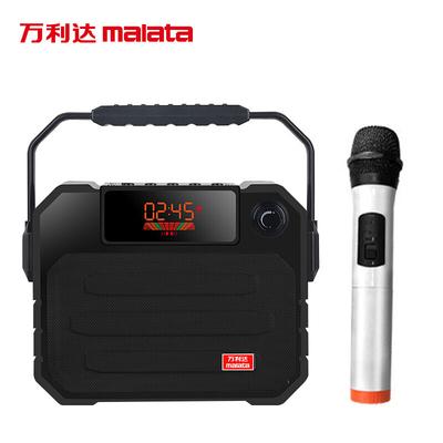 万利达 音响蓝牙音箱户外手提便携式广场舞音响可插卡U盘带话筒 X06黑色产品图片3