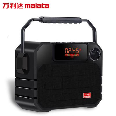 万利达 音响蓝牙音箱户外手提便携式广场舞音响可插卡U盘带话筒 X06黑色产品图片4