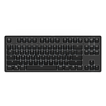 987 德国原厂cherry轴体 有线/蓝牙双模式 87键PBT键帽黑色机械键盘 红轴 白色背光产品图片主图