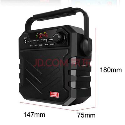 万利达 音响蓝牙音箱户外手提便携式广场舞音响可插卡U盘 X11黑色产品图片2