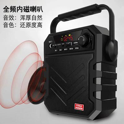 万利达 音响蓝牙音箱户外手提便携式广场舞音响可插卡U盘 X11黑色产品图片3