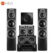 惠威 D60HT+天龙AVR-X1400H功放 家庭影院音响套装 5.1声道客厅KTV电视音箱