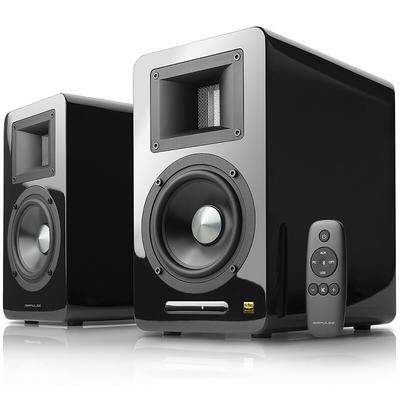 漫步者 AIRPULSE A100 立体声有源书架音箱 客厅音响 电视音响 黑色产品图片1