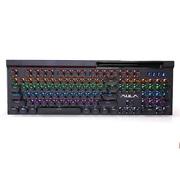 狼蛛 复仇者二代混光 复古朋克圆帽机械键盘无冲104键游戏键盘 吃鸡键盘 绝地求生 青轴