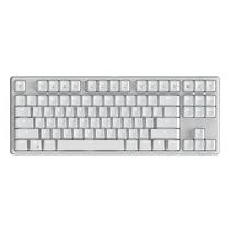 987 德国原厂cherry轴体 有线/蓝牙双模式 87键PBT键帽白色机械键盘 青轴 白色背光产品图片主图
