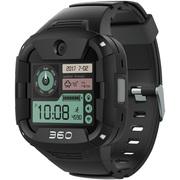 360 电话手表X1 Pro 运动快充版 青少年智能手表 4G智能语音视频安全定位防水腕式装备手机 黑色