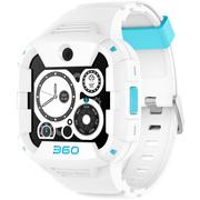 360 电话手表X1 Pro 运动快充版 青少年智能手表 4G智能语音视频安全定位防水腕式装备手机 白色